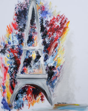 """Explosion in France"" - Prophetic Art Print"