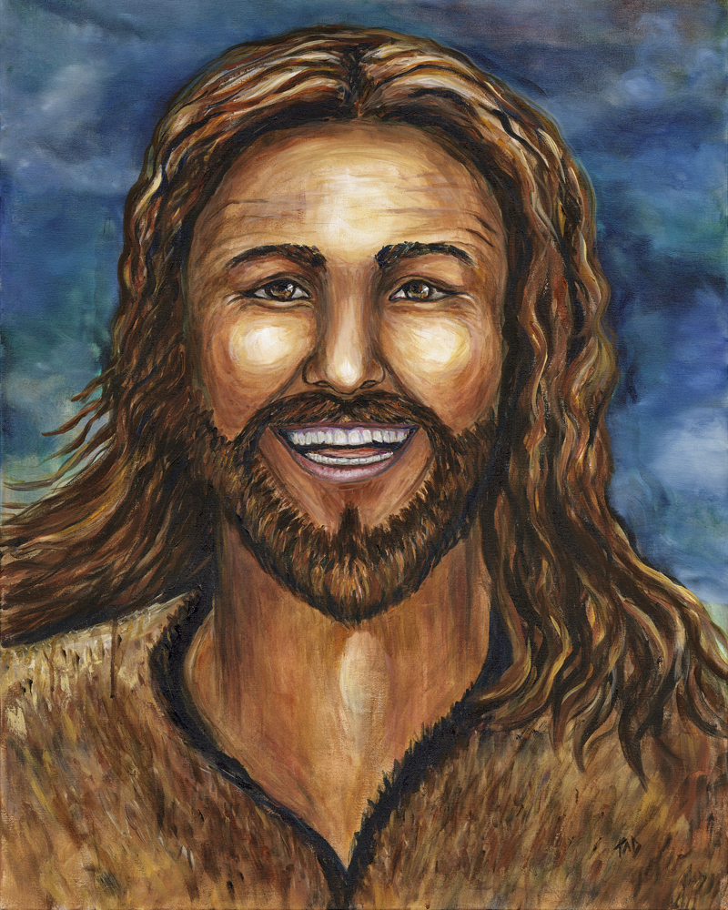 """The Happy Jesus"" 8 x 10 Prophetic Art Print"