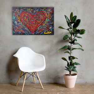 """Heart Scribbles"" - Prophetic Art Print"