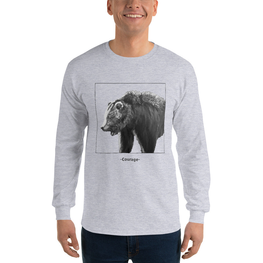 Courage - BW - Long sleeve