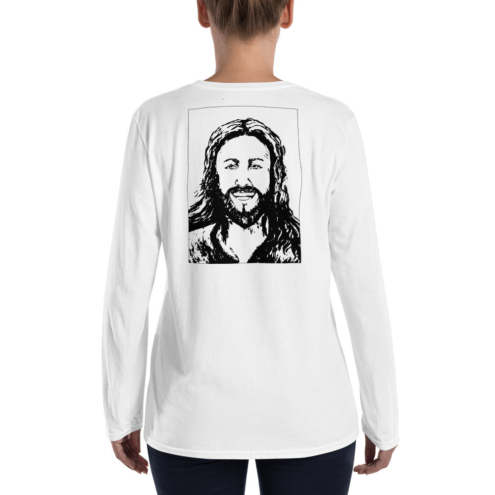 Happy Jesus Long-sleeve T-shirt Men