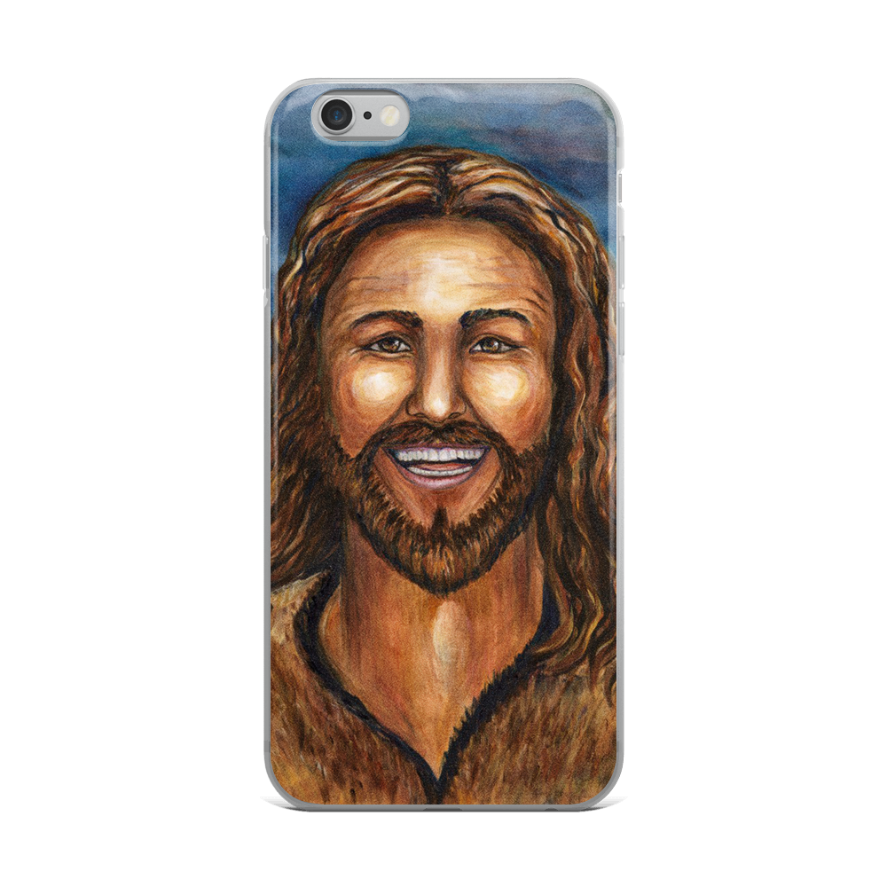 """Happy Jesus"" iPhone Case"