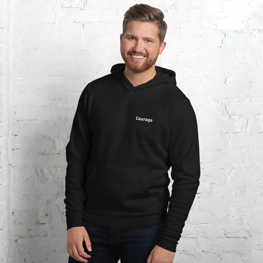 Courage Black & White Hoodie