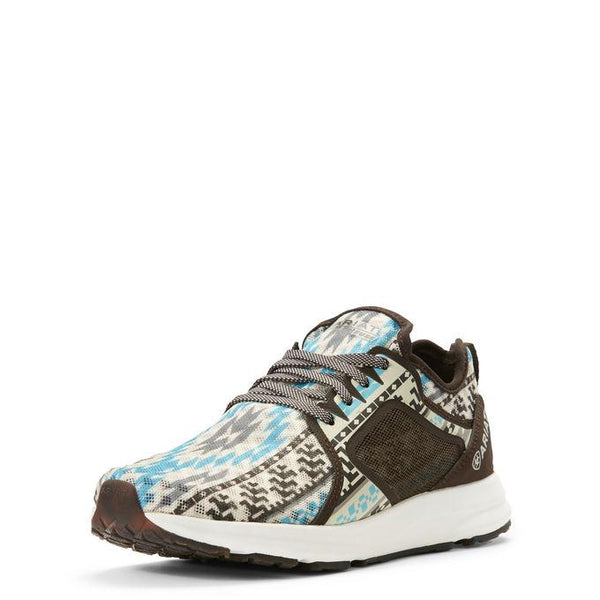 Ariat Women's Fuse Turquoise & Brown Aztec Athletic Shoes
