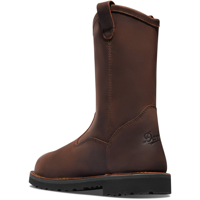 "Danner Bull Run Wellington Round Toe 11"" Brown"