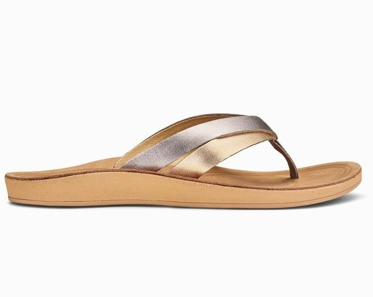 Kaekae Women's Leather Beach Sandals