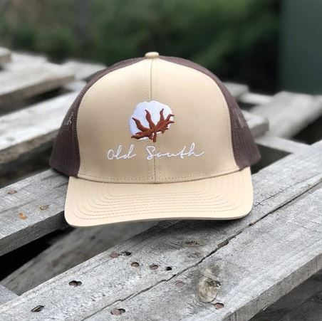 Old South Cotton Trucker Hat - Khaki/Brown