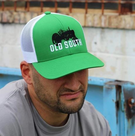 Old South Tractor Trucker Hat - Green/White