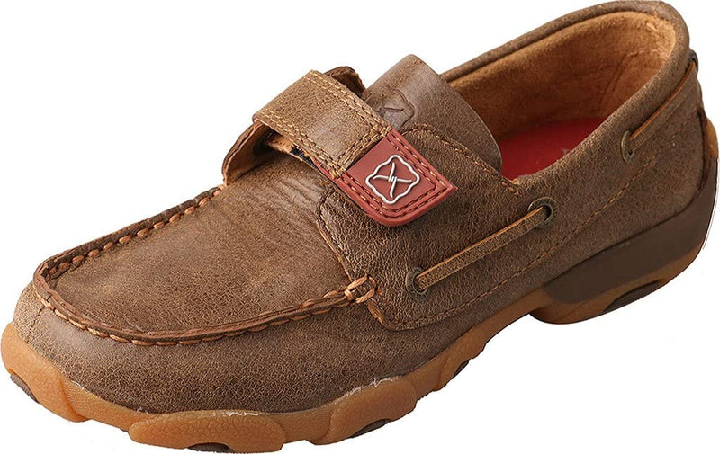 Twisted X Unisex Handcrafted Leather Driving Moc Boat Shoe for Toddler//Little Kid