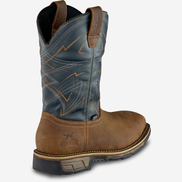 "Red Wing Men's 11"" Waterproof Leather Pull-On Boot"