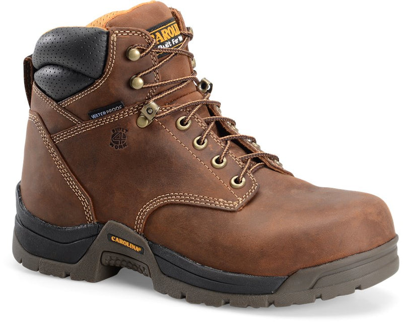 Carolina Waterproof Broad Composite Toe Work Boot - 6""