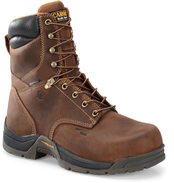 "Carolina 8"" Waterproof Broad Composite Toe Work Boots"