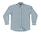 Bluefish Performance Plaid Dress Shirt Slate & White