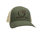 Peach State Pride Trucker Hat - Olive and Khaki