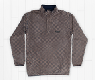 Arapaho Fleece Pullover - Navy and Tan
