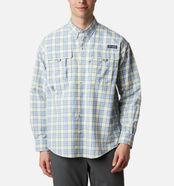 Men's PFG Super Bahama Long Sleeve Shirt - Sunlit Plaid