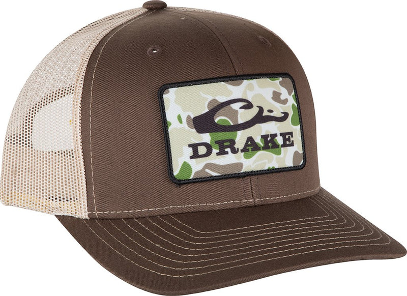 Old School Patch Mesh Back Cap - Brown/Khaki