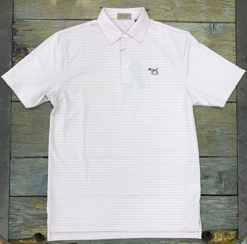 Performance Polo Pink and White Pointer