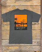 Cypress at Sunset - Grey
