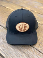 Original Dallas Wayne Oval Duck Logo Patch Hat - Black