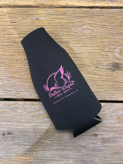 Bottle Koozie - Black/Purple