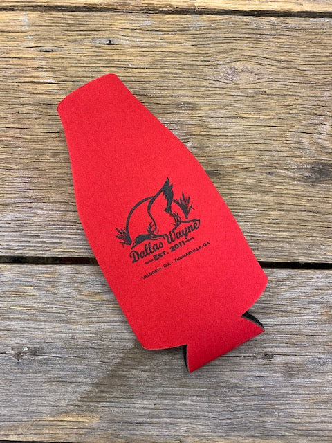 Bottle Koozie - Red/Black