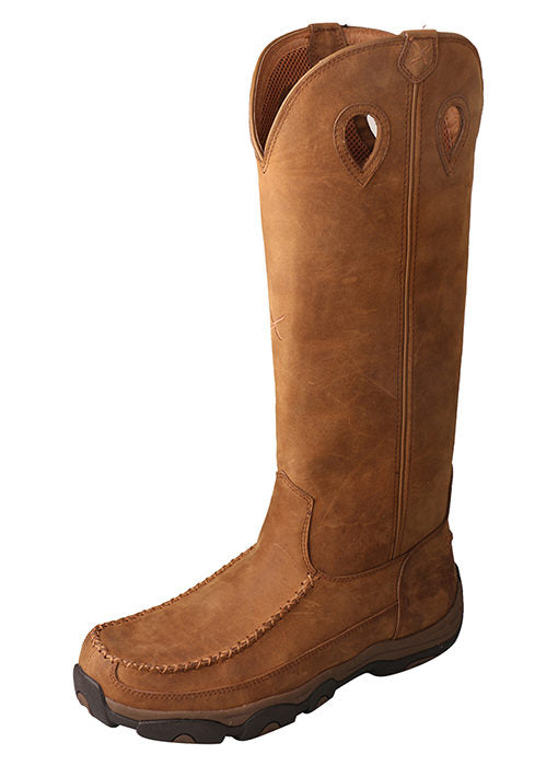 Twisted X 17″ Viperguard Snake Boot – WP Distressed Saddle/Saddle