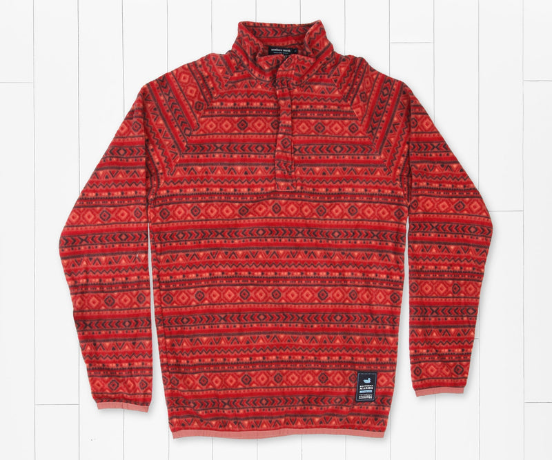 Sierra Madre Pullover - Washed Red & Midnight Gray