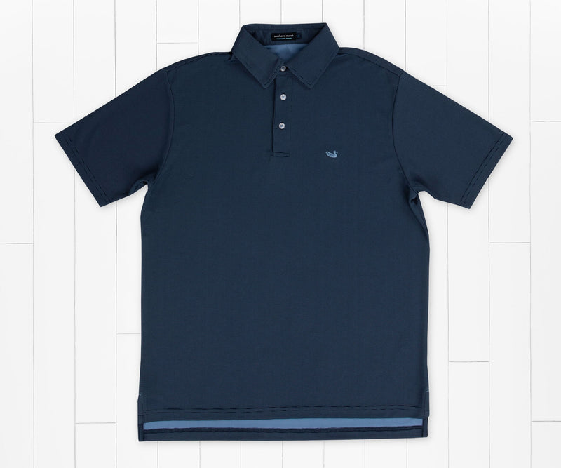 Abaco Mesh Performance Polo - Navy
