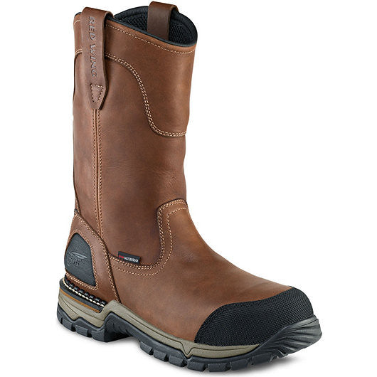 Red Wing Men's 11-Inch Waterproof Safety Toe Pull-On Boot
