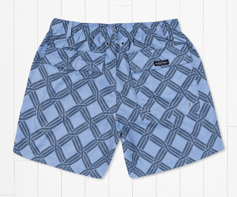 Dockside Swim Trunk - Rope Chambray Blue & Navy