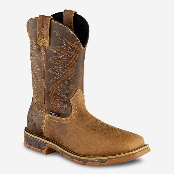 "Irish Setter Marshall's Men's 11"" Waterproof Leather Soft Toe Pull-On Boot"