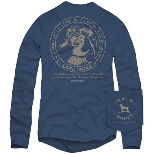 Wood Duck Crest Long Sleeve - Navy