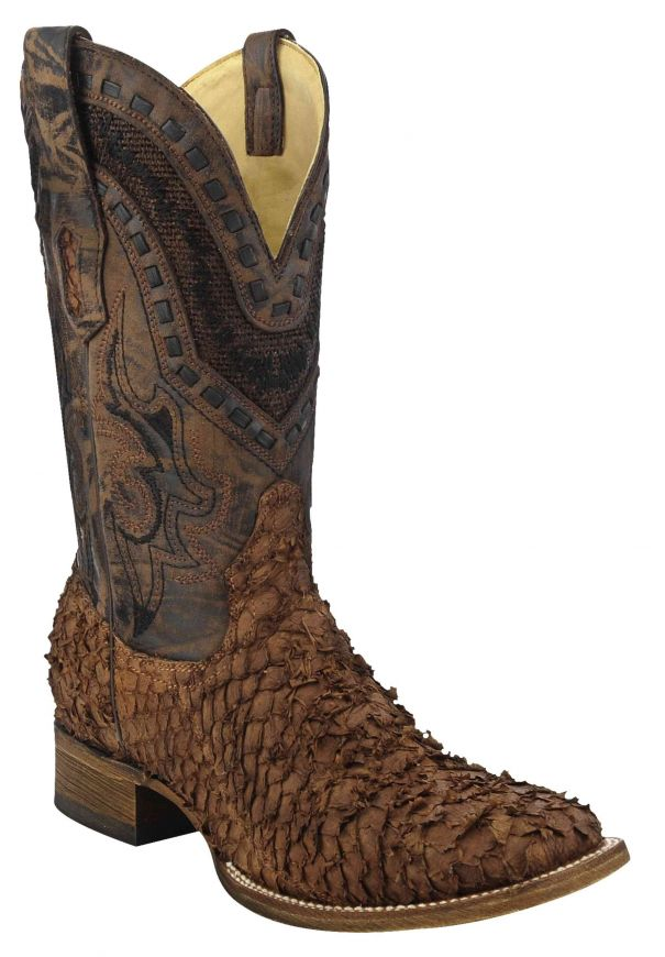 Corral Men's Gnarly Fish Square Toe Cowboy Boots