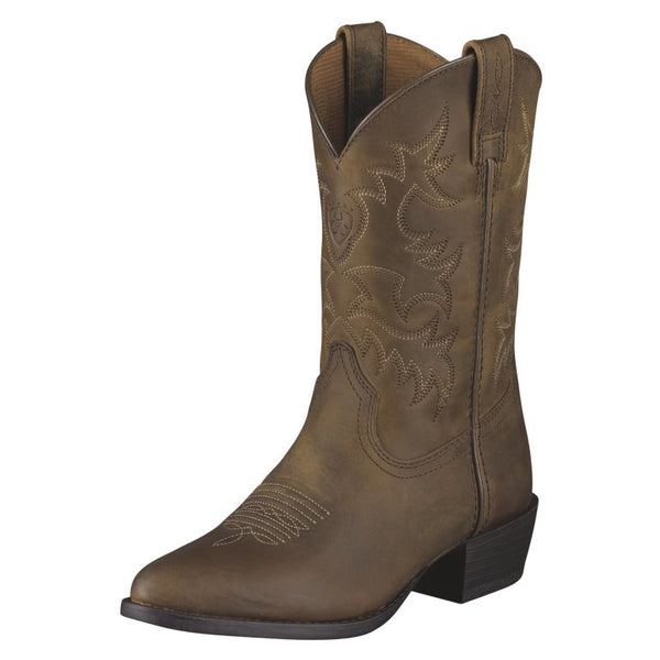Kid's Ariat Boots Heritage Western Collection Distressed Brown