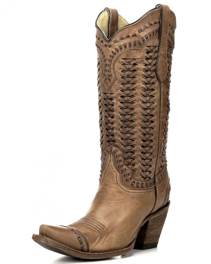 Corral Braided Shaft With Glitter Boot
