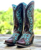 Corral Women's Turquoise Overlay Western Boots