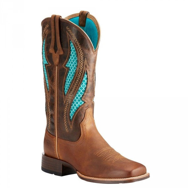 Ariat Women's Venttek Square Toe Ultra Cowgirl Boot - Brown