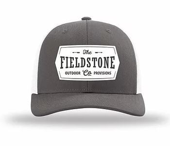 Trucker Patch Gray and White