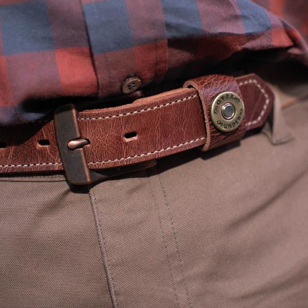The Olive Waxed Canvas Belt