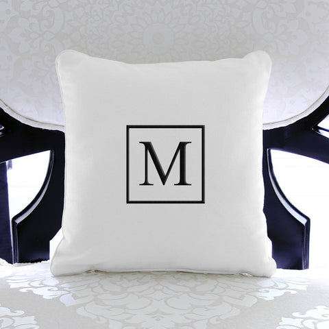 Square Accented Personalized Throw Pillow