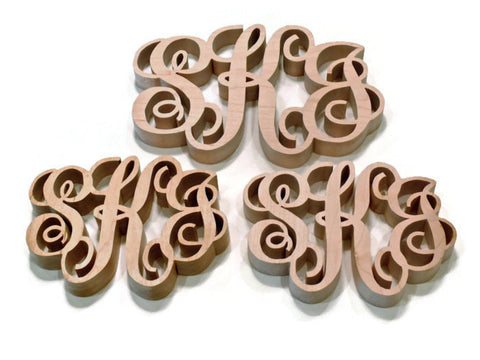 3 Piece Monogrammed Kitchen Trivet Set