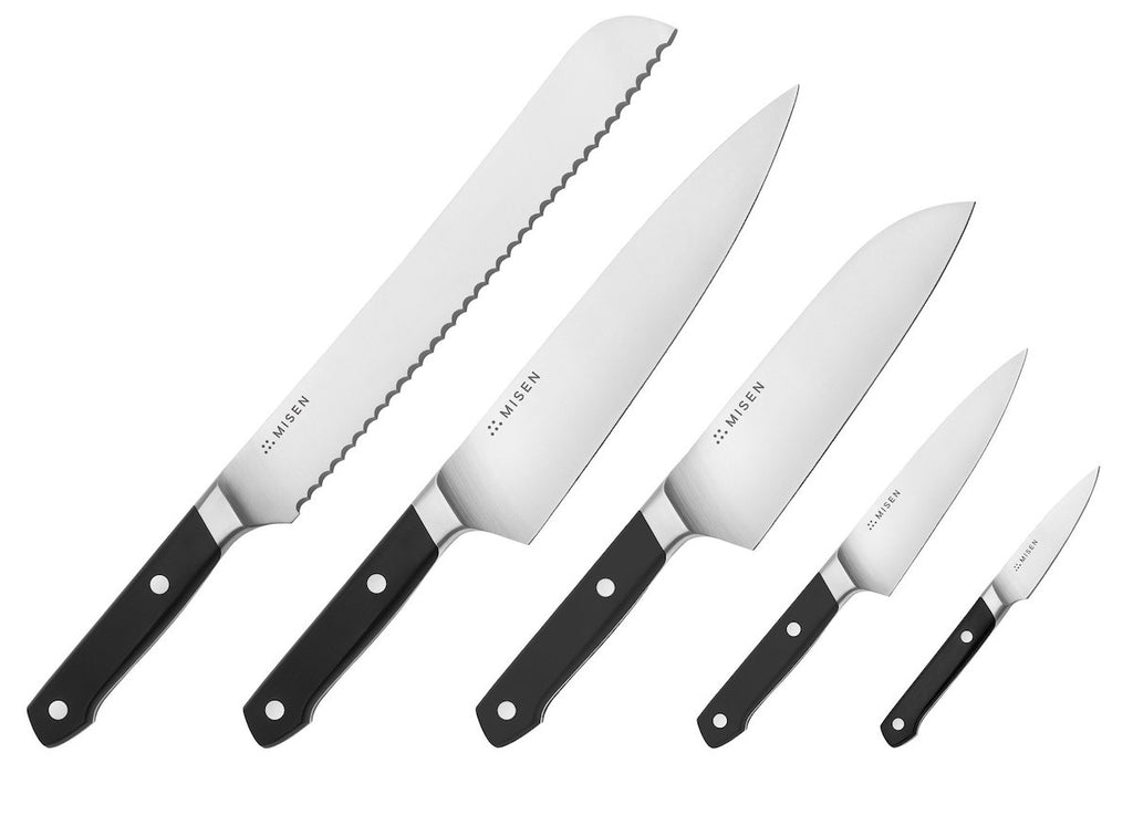 Knife block: the Misen 5-piece knife set without the block