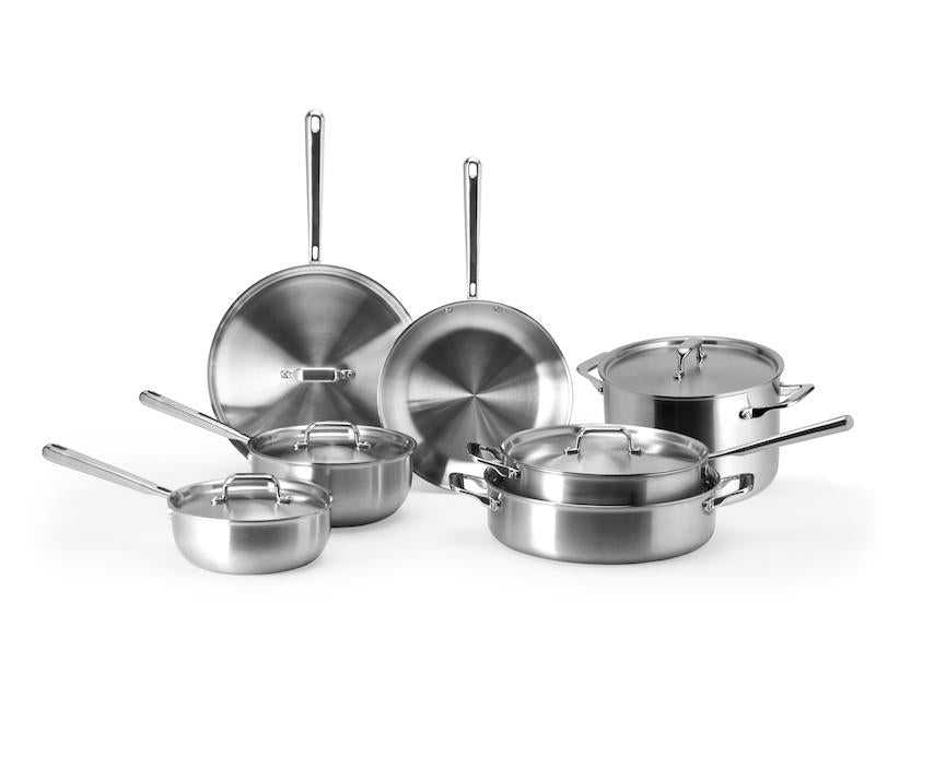 Cookware sets: Misen seven-piece multi-ply stainless steel cookware set