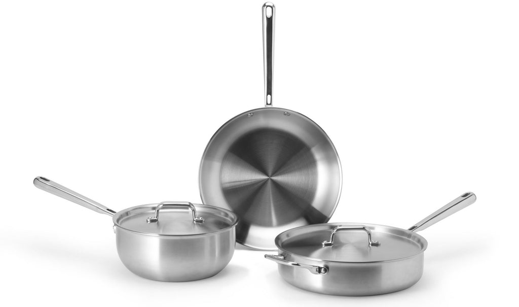 Best stainless steel cookware: Misen's essential 3-piece stainless steel cookware set