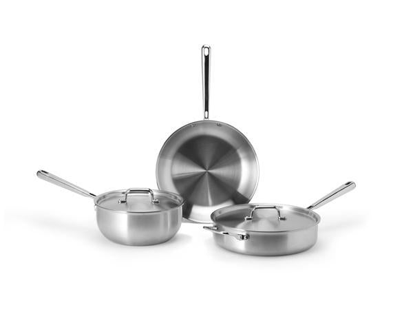 Cookware sets: Misen starter multi-ply stainless steel cookware set