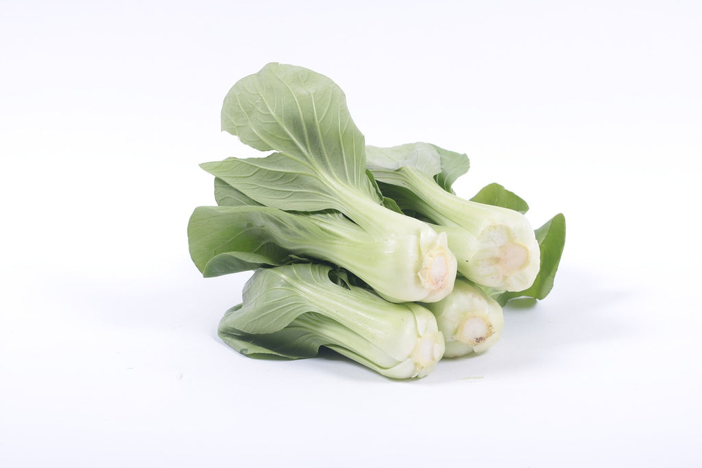 How to cut bok choy: three whole heads of bok choy