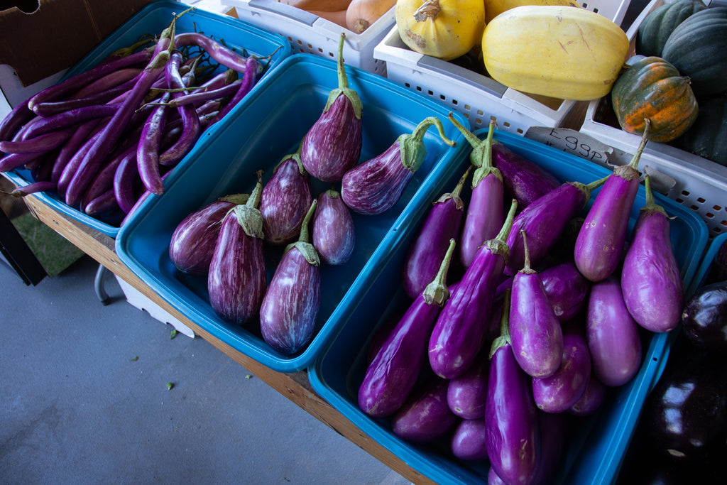 How to cut eggplant: three kinds of eggplant at the market