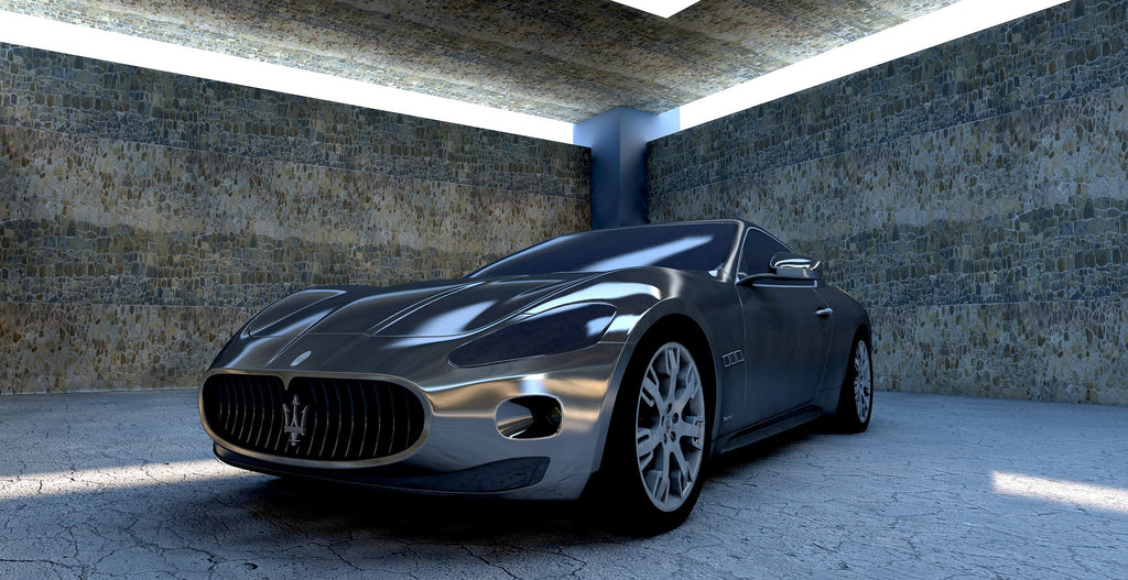 Rockwell hardness scale: a Maserati sports car