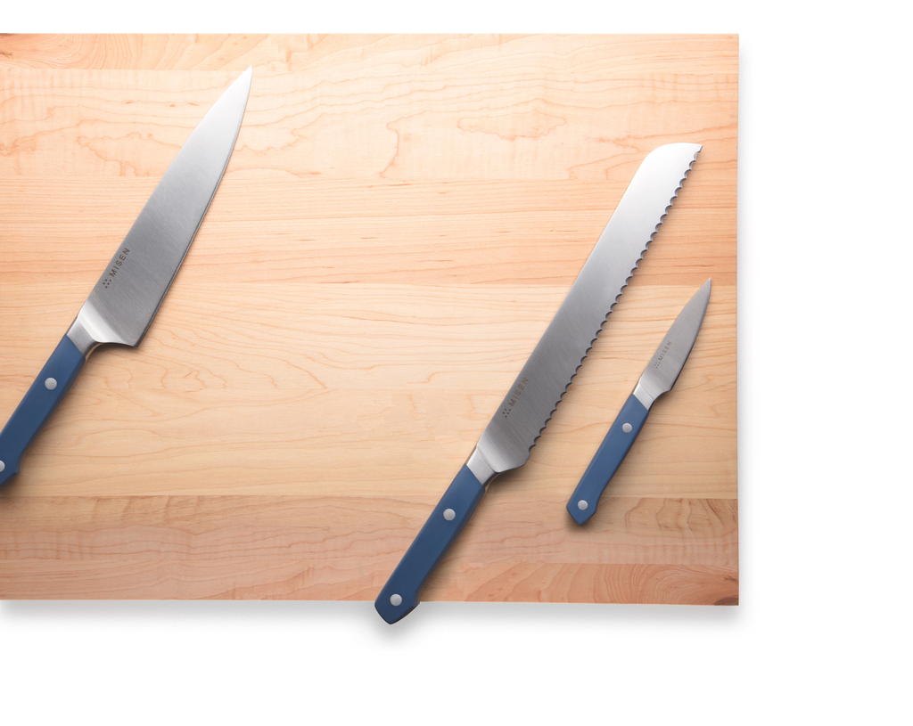 knives on a cutting board
